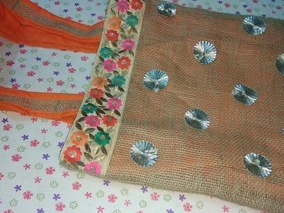 Diy Handbag.Tote bag | make beautiful fabric handbag at home
