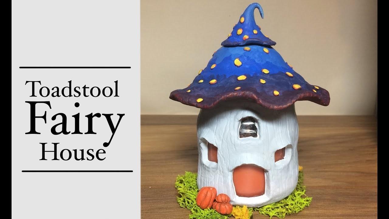 Diy Polymer Clay Fairy House Lantern Jar Candle Mushroom