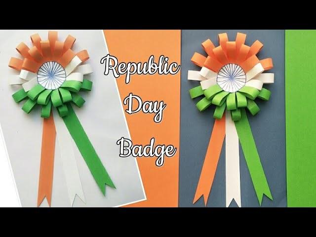 DIY Republic Day Badge Indian Tricolor Flag Badge 26th Jan