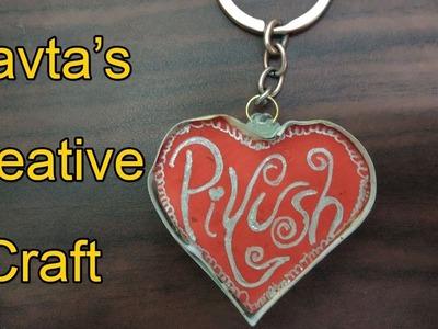 DIY Valentine Gift for Him | Heart Keychain Step by Step | Handmade craft ideas | Valentine's ideas