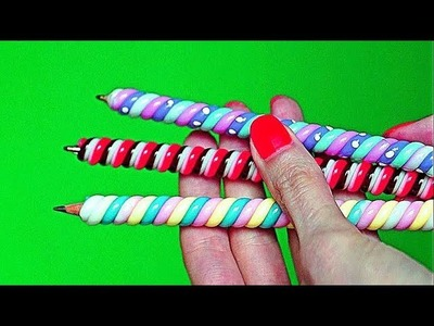 DIY Weird Back to School Supplies You Need to Try – Candy Style. DIY Hot Glue Pencil Topper