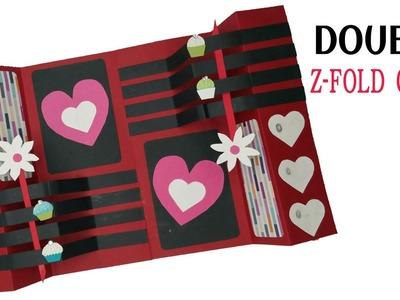Double Z Fold card | Scrapbook - DIY Tutorial - 876