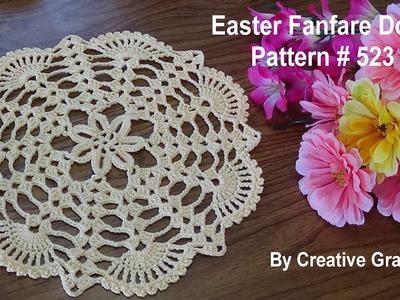 Easter Fanfare Doily  - Crochet Tutorial