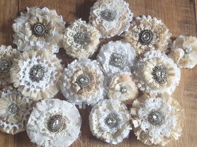 Handmade Shabby Chic Flowers With Doilies & Tutorial