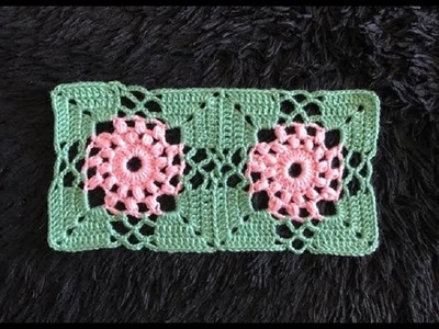 How to Crochet and Join Puff Stitch Flower Motifs Pattern #631│by ThePatternFamily