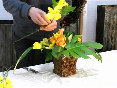 How to do japanese flower arrangement for beginners