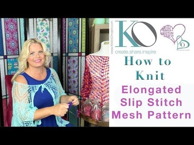 How to Knit Elongated Slip Stitch Mesh Pattern