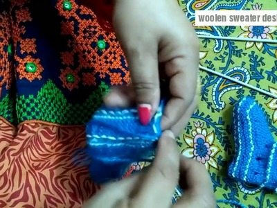 How to knit woolen socks for kids : easy sweater design final part