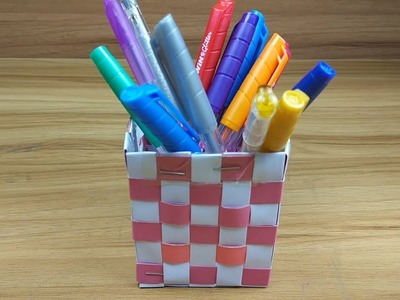 How to Make a Beautiful Pen Stand with Paper at Home | Paper Pencil Holder |