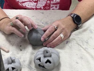 How to make a clay pumpkin