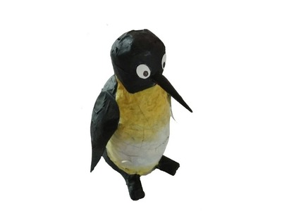 How to make a penguin using newspapers paper