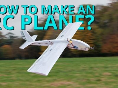 How to make a styrofoam RC airplane yourself | homemade low cost project