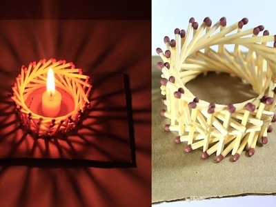 How to Make Amazing Lantern   from Matches Without Glue  | cardboard and Matches DIY