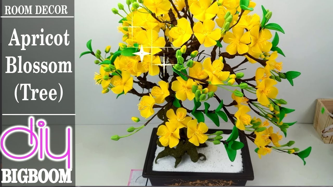 How To Make Apricot Blossom Tree To Room Decor Of New Year 2018  Diy BigBoom