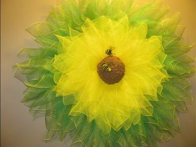 How To Make Carmen's HUGE Sunflower Wreath Made With Heart Wreath Frames