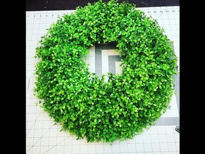How to make Farmhouse style Boxwood wreath for your door or home