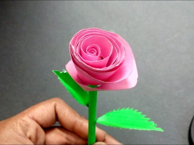 How To Make Rose Paper Craft Work