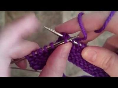 How to YO SKP in knitting