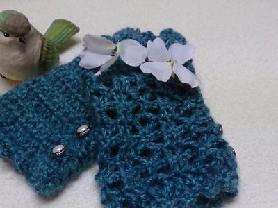 J's Crochet - Lagniappe Easy Lace Hand Warmers. EP. #81.