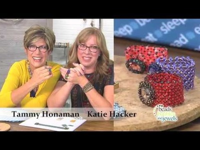 Learn to make beaded chenille-stitch rings!