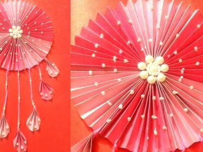 Make color Paper wall hanging - Colorpaper craft ideas - Quill Paper Wall Hangers for room decor