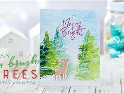 Make It Monday #306:  Easy Fan Brush Trees