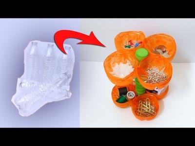 Mini Organizer: Craft Idea from Plastic Bottles | Recycling Plastic Bottles Part 1
