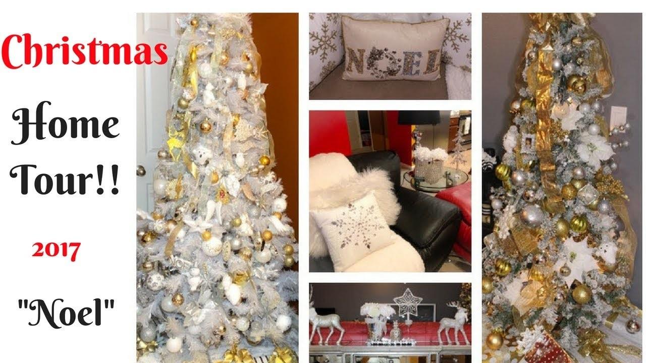 """MY CHRISTMAS 2017 HOME TOUR!! """"NOEL""""-CHRISTMAS DECOR ON A BUDGET!"""