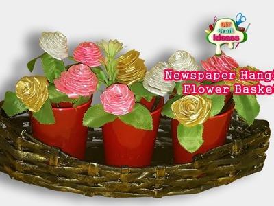 Newspaper Flower Basket  DIY Newspaper Crafts  Best out of WasteII DIY Craft Ideas