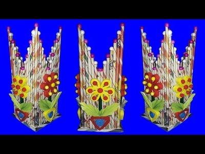 Newspaper Flower Vase●DIY Best From Waste Easy Newspaper Craft Idea●Beautiful Paper FlowerPot Design