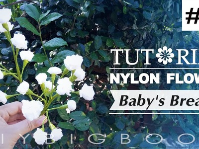 Nylon stocking flowers tutorial #65, How to make nylon stocking flower step by step