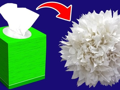 Paper Flowers With Tissue Paper   Making Flowers With Tissue Paper   Paper Crafts Ideas   Easy DIY