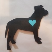 Pitbull Silhouette Cut Out