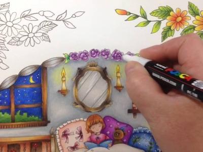 Romantic country - tutorial part 5 - prismacolor pencils