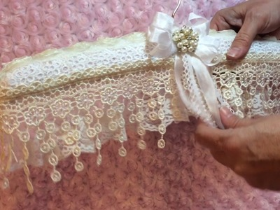 Shabby Chic, Vintage, Lace Hangers, project share