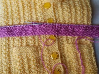 Single colour jacket knitting design - part -1