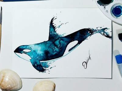 Speed Drawing - Whale 【Watercolor Speedpaint】