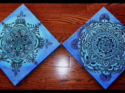 Step by Step Beautiful Mandala on the Blue Canvas (Set of 2)-Part 2