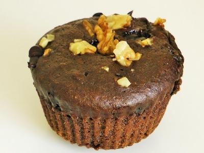 एगलेस कपकेक    Eggless Chocolate Cupcake by madhurasrecipe