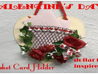 Tricia's Creations: Valentine's Day Basket Card Holder. Dollar Tree