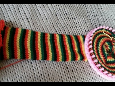 Tube scarf on a round loom - English - part 1