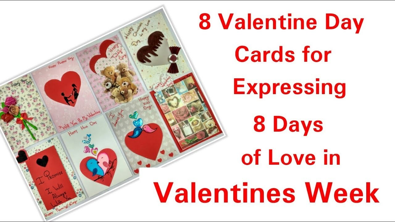 Valentine's Day Cards,8 Handmade Valentines Cards,How to make Love Cards for Valentine Week ?