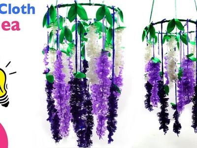 Wind Chimes Idea | Make Innovative Ceiling Hanging From Old Cloth for Home Decor | Sonalis Creations