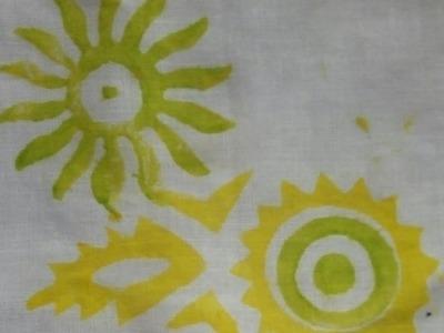 #3 How to make Block printing on Fabric.Fabric printing.ব্লক টিউটোরিয়াল