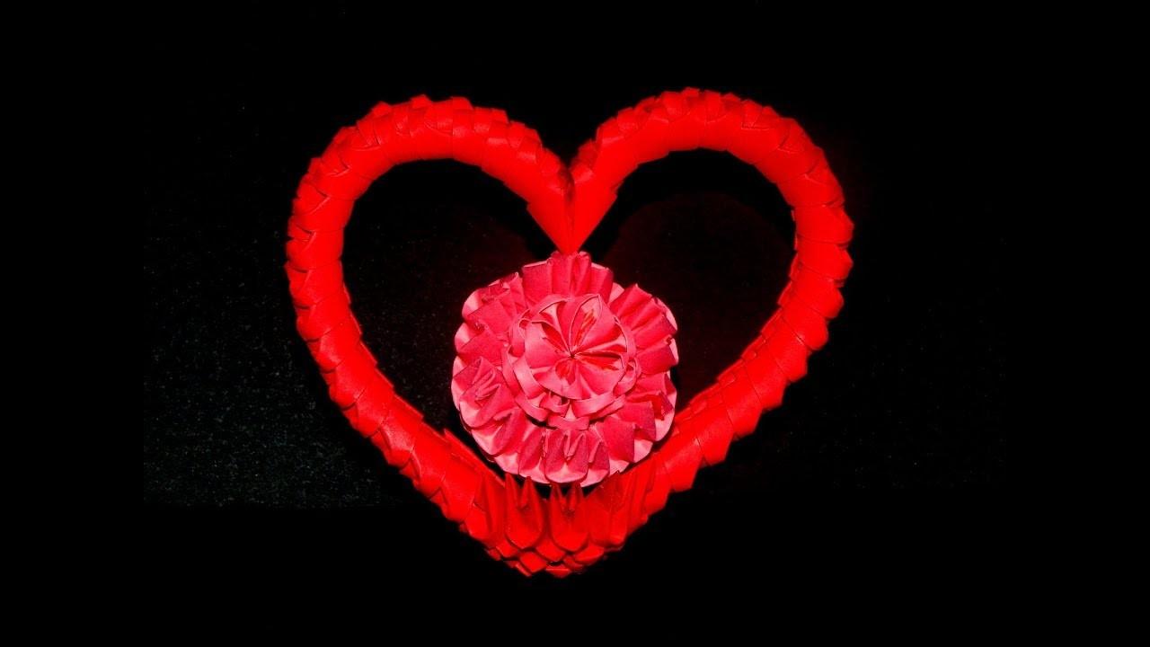 3D Origami Heart Tutorial 1