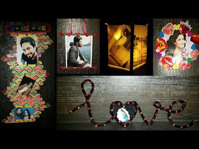 5 EASY ND BEAUTIFUL PHOTO FRAME |TUTORIAL | DIY | VALENTINE'S DAY SPECIAL | A3 ALL ABOUT ART
