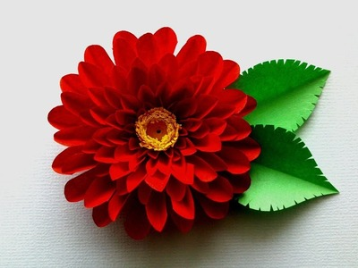 Aster Flower from Paper - Aster  Flower DIY