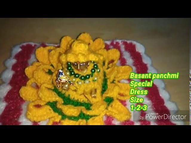 Basant panchmi special crochet dress size 1-2-3 number Laddu gopal Ji