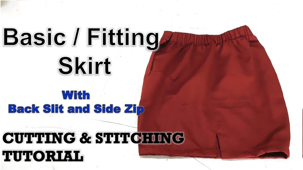 Basic Skirt | Fitting Skirt | How To Sewing Tutorial | Diy