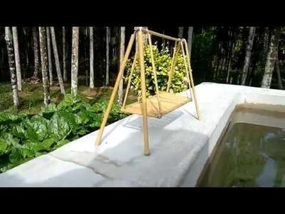 Craft of bamboo swing by Mithun Shetty